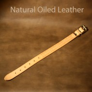 Leather Dog Collar - 11 to 16 inch neck - Dog Collar - Celtic design with natural oiled leather finish