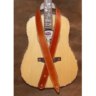 "Guitar Strap - 2"" 'Phoenix' Style Custom Leather Guitar Strap (Plain Saddle Tan) Can be personalised"