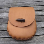 Pouch - Hand-Laced Leather Belt Pouch (Oiled Natural Leather)