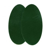 Leather Elbow Patches - (Special XL Size) Forest Green for shooting jackets and military pullovers