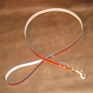 Dog Lead in Saddle Tan Leather with Solid Brass Trigger Hook to suit most LARGE dogs