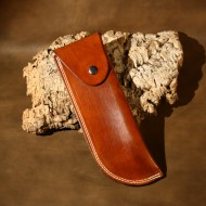 Pouch - Plain Saddletan Leather Belt Pouch To Fit Bahco Laplander Folding Bushcraft Saw