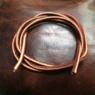 Leather Bootlace or Thong - approximately 41 inches x 4.00mm (single lace in brown)