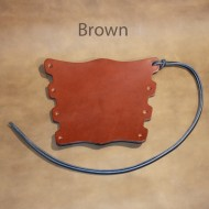 Archery Bracer or Armguard - Laced Medieval Castle Style Fits Child to Adult - Brown