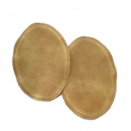 Suede Elbow Patches - (Size: Large) Dark Cream (three sizes available)