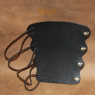 Archery Bracer - Elastic Style fits all sizes - Black Leather