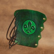 Archery Bracer - Elastic Style fits all sizes - Tooled Scout Logo Design (Special Scout Price)