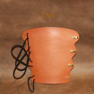 Archery Bracer - Elastic Style fits all sizes - Tan Leather