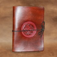 Journal - A5 Leather journal with Celtic Dogs design
