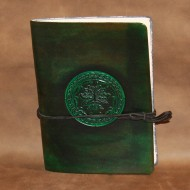 Journal - A5 Leather journal with Celtic Green Man design