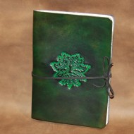 Journal - A5 Leather journal with Green Man design
