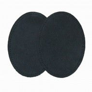 Leather Elbow Patches - (Size Large) Black (three sizes available)