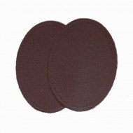 Leather Elbow Patches - (Size Large) Burgundy (three sizes available)