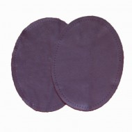 Leather Elbow Patches - (Size Small) Damson (three sizes available)