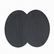 Leather Elbow Patches - (Size Large) Dark Brown (three sizes available)
