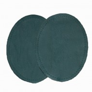 Leather Elbow Patches - (Size Medium) Forest Green (three sizes available)