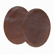 Leather Elbow Patches - (Size Small) Mid Brown (three sizes available)