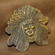Minted Brass Buckle - Sitting Bull Chief of the Sioux