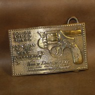 Minted Brass Buckle - Polish Armed Guard Marksman of the Year 1947 (with reversed gun)