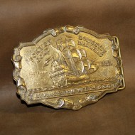 Minted Brass Buckle - Livingstone Wells Gold Dealers