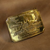 Minted Brass Buckle - Wells Fargo Sioux City and Pacific Railroad