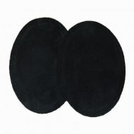 Suede Elbow Patches - (Size: Large) Black (three sizes available)