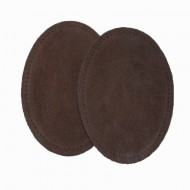 Suede Elbow Patches - (Size: Large) Dark Brown (three sizes available)