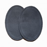 Suede Elbow Patches - (Size: Large) Grey (three sizes available)