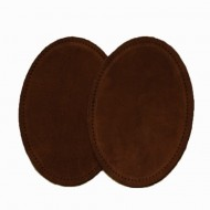 Suede Elbow Patches - (Size: Large) Mid Brown (three sizes available)