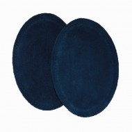 Suede Elbow Patches - (Size: Medium) Navy Blue (three sizes available)