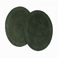 Suede Elbow Patches - (Size: Large) Olive Green (three sizes available)