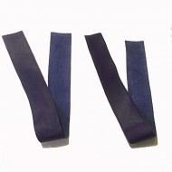 """Cuff Bindings (2"""" wide x 22"""") - Navy Leather"""