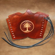 Archery Bracer - Traditional style with White Tree of Gondor tooling (pair)
