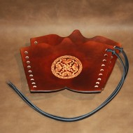 Archery Bracer - Traditional style with Oakcircle tooling (pair)
