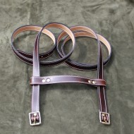 "Straps - 1.25"" Wide Classic Sports Car Rack Luggage or Basket Straps (pair with spacer strap) 55"" Long in Dark Brown Leather"