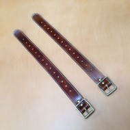 "Straps - 1.5"" Wide Classic Sports Car Rack 22"" Extension Straps  in Dark Brown Leather (PAIR OF STRAPS)"