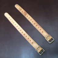 "Straps - 1.5"" Wide Classic Sports Car Rack 22"" Extension Straps  in Natural Oiled Leather (PAIR OF STRAPS)"