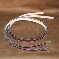 """Straps - Pair of 3/4"""" wide x 40"""" long Dark Brown Leather Suitcase Straps"""