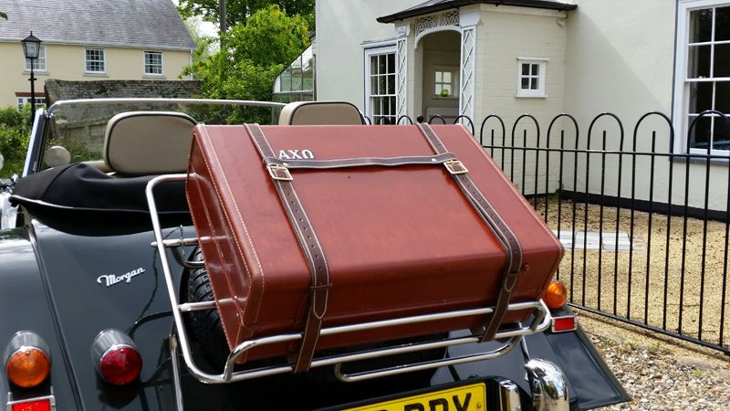 Leather Luggage Straps for Classic Cars (Morgan and MG specialists)